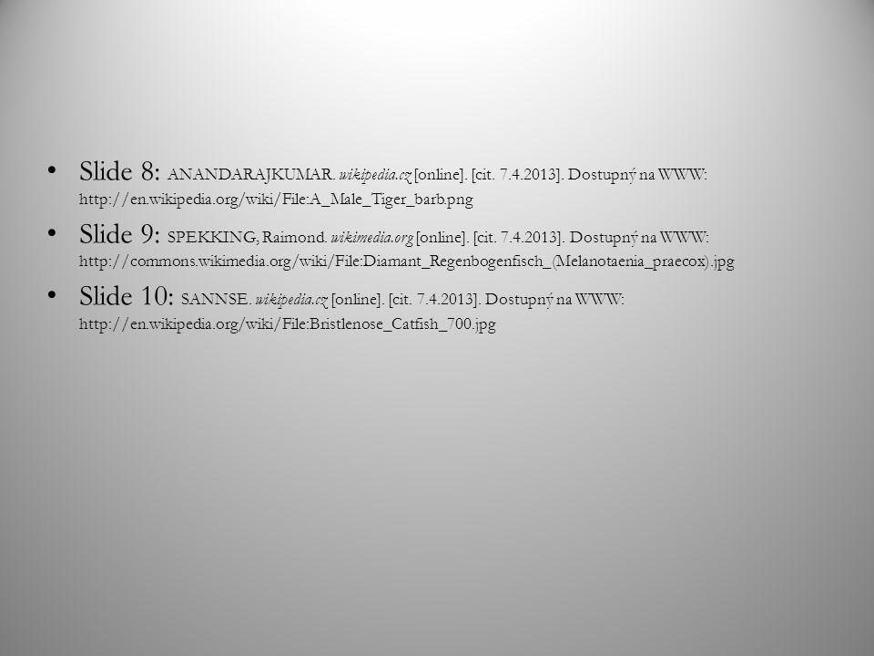 Slide 8: ANANDARAJKUMAR. wikipedia. cz [online]. [cit. 7. 4. 2013]